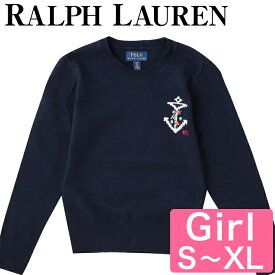 【10%オフクーポン】 Polo Ralph Lauren ラルフローレン レディース キッズ セーター Cotton-Cashmere Peplum Sweater GIRLS 7-16