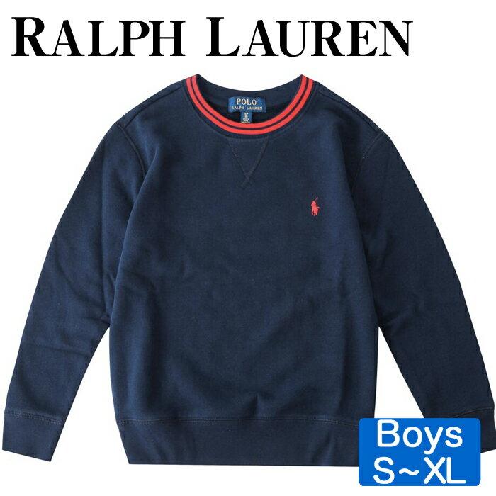 【全品10%オフクーポン】 Polo Ralph Lauren ポロ ラルフローレン キッズ スウェット フリース シャツ トレーナー コットン 男の子 Cotton-Blend-Fleece Sweatshirt