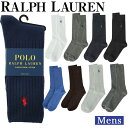 【クーポンで最大500円オフ!!】 【メール便】 Polo ラルフローレン ソックス メンズ Polo 靴下 ビジネス リブ ソックス ハイソックス メンズ 男性 黒 POLO RALPH LAURE