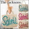 杰克逊杰克逊词袋小大小袋手提袋 A4 大小袋黄麻袋