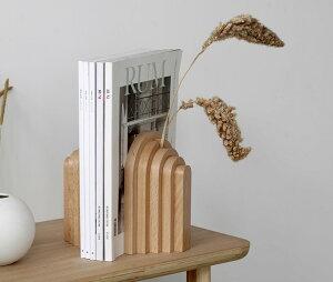 韓国インテリア ブックエンド 木製 本立て ブックスタンド おしゃれ 卓上 机上 シンプル ナチュラル かわいい デザイン モダン 北欧 整理 本棚 仕切り 本 絵本 文庫本 収納 本たて ディスプ