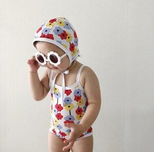 予約販売 ベビー 赤ちゃん 子供 水着 韓国子供服 可愛い 帽子付き プール 海 川 スイムウエア フラワー 花柄 ワンピース ナチュラル SNS映え おしゃれ