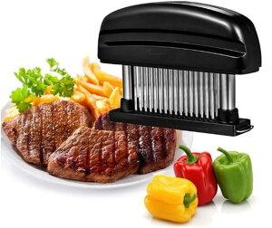 ウォームタイム(Warm time)肉筋切り器 ミートテンダライザー 肉たたき お肉が柔らかくなる 48刃 洗浄用ブラシ付き 肉 高級肉 おいしくなる 牛肉 豚肉 鶏肉 料理 自粛 お家時間
