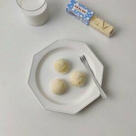 韓国インテリア 七角形 皿 カフェ風 プレート おしゃれ インテリア オルチャン 可愛い 20cm パン皿 ケーキ皿