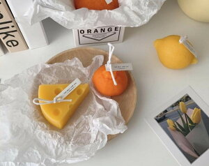 韓国インテリア bonbon キャンドル 2個セット チーズ デコポン オレンジ レモン リアル フェイクスイーツ ろうそく 蝋燭 プレゼント インテリア  おしゃれ