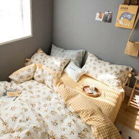 韓国インテリア リネン ベッドルーム ベッド インテリア おしゃれ 可愛い かわいい ベビー キッズ 女の子 男の子 シーツ ベッド 毛布 枕カバー デイジー マーガレット