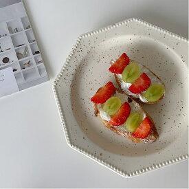 韓国インテリア お皿 カフェ風 カフェ おしゃれ インテリア オルチャン 可愛い ナチュラル かわいい 韓国 アンティーク カフェ カフェ風 SNS映え 花柄 皿 ケーキ皿 パン皿 使いやすい アンティーク風
