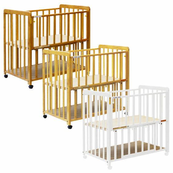 ヤトミ ミニベビーベッド ミミ 棚板付き ベビーベッド ベビーベット ミニベッド 赤ちゃん ねんね 小さいサイズ 部屋