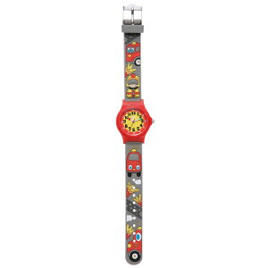【ベビーウォッチ/babywatch】消防士幼児用3Dレリーフベルト腕時計「アベセデール」/ABECEDAIREpin-pon【babywatchベイビーウォッチ子供用子ども用キッズウォッチ時計ギフトパリ】【楽ギフ_包装】