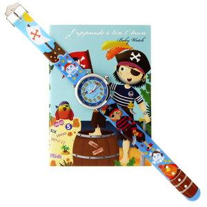 【ベビーウォッチ/babywatch】海賊子ども用プリント柄ベルト腕時計「コフレ」/COFFRETmatelot【babywatchベイビーウォッチ子供用子ども用キッズウォッチ時計ギフトパリ】【楽ギフ_包装】