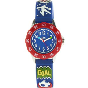 【ベビーウォッチ/babywatch】サッカー子ども用3Dレリーフベルト腕時計「ザップ」/ZAPfoot【babywatchベイビーウォッチ子供用子ども用キッズウォッチ時計ギフトパリ】【楽ギフ_包装】