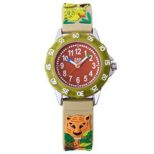 【ベビーウォッチ/babywatch】ジャングル子ども用3Dレリーフベルト腕時計「ザップ」/ZAPjungle【babywatchベビーウォッチ子供用子ども用キッズウォッチ時計腕時計ギフトパリ】【楽ギフ_包装】