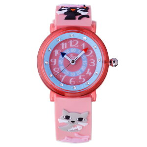 【ベビーウォッチ/babywatch】ネコ子ども用3Dレリーフベルト腕時計「ザップ」/ZAPcats【babywatchベビーウォッチ子供用子ども用キッズウォッチ時計腕時計ギフトパリ】【楽ギフ_包装】