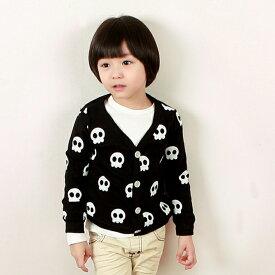 韓国子供服【wittyboy】 (ウィッティーボーイ カーディガン) スカル柄カーディガン【あす楽対応】【ラッピング不可】