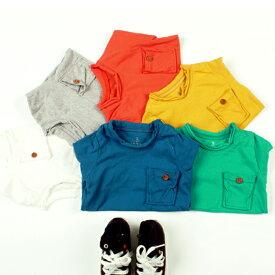 韓国子供服【wittyboy】 (ウィッティーボーイ ロンT) 無地 ボタンつき胸ポケット 各色【ラッピング不可】