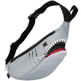 ウエストポーチ モーンクリエイションズ シャークウエストポーチ 人気の動物バッグシリーズ! サメバッグ 正規品 ウエストバッグ ウエストバック MORN CREATIONS シャークバッグ グレー