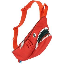 ウエストポーチ モーンクリエイションズ シャークウエストポーチ 人気の動物バッグシリーズ! サメバッグ 正規品 ウエストバッグ ウエストバック MORN CREATIONS シャークバッグ コンビ レッド/ダークレッド