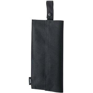 ティッシュケース YAMAZAKI TOWER たためる携帯ティッシュケース バッグに入れてお出掛けも! スリム 持ち運び 車内 コンパクト ティッシュカバー ティッシュボックス 山崎実業 タワー ブラッ