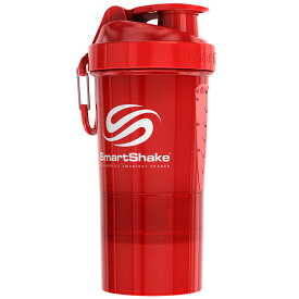 プロテインシェイカー スマートシェイク ORIGINAL2GO 600ml ダマになりにくく飲みやすい! シェーカーボトル プロテインシェーカー SmartShake オリジナルシリーズ レッド