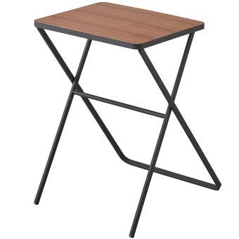 カフェテーブルYAMAZAKITOWER折り畳みテーブルおしゃれなカフェテーブル隙間家具隙間収納スリム収納ミニテーブル折りたたみ式テーブル山崎実業タワーブラック