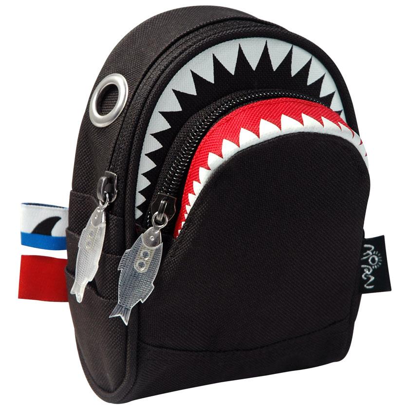 ポーチ MORN CREATIONS シャーク ポーチ モーンクリエイションズ サメ ショルダーポーチ ブラック