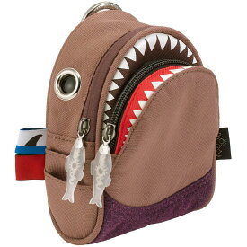 ポーチ MORN CREATIONS シャーク ポーチ モーンクリエイションズ サメ ショルダーポーチ ブラウン