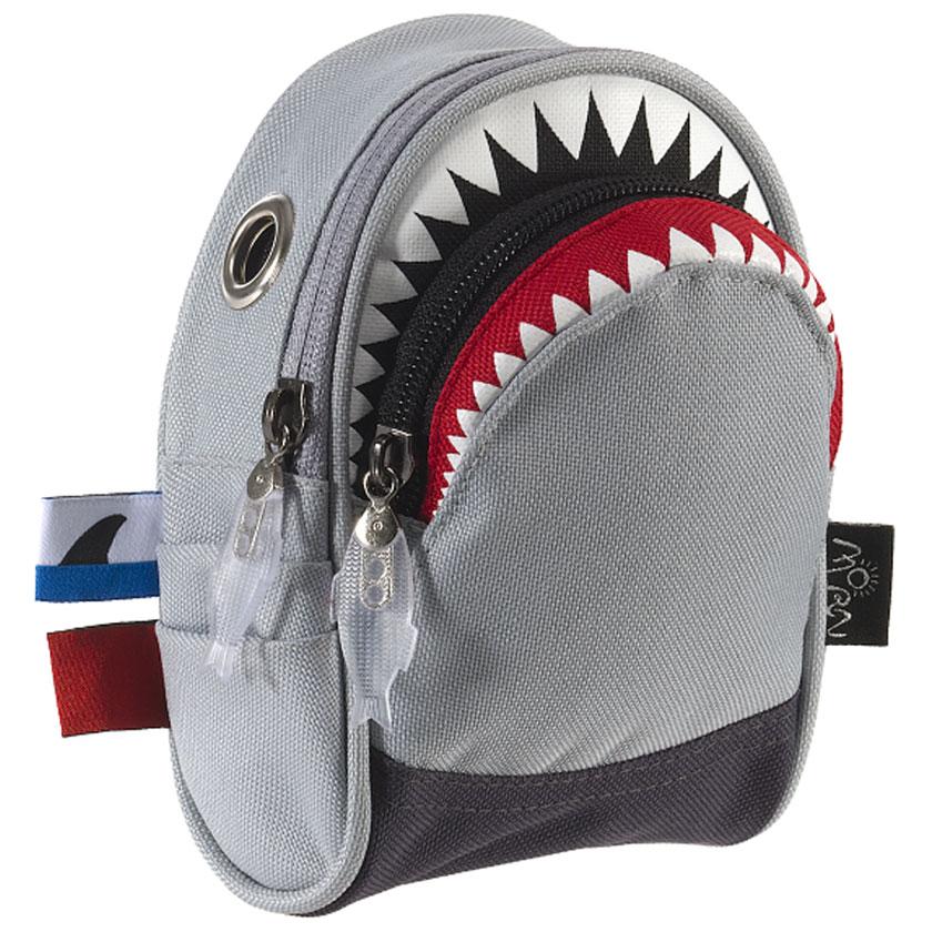 ポーチ MORN CREATIONS シャーク ポーチ モーンクリエイションズ サメ ショルダーポーチ グレー