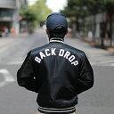 【BACKDROP x STARTER】(別注スターター) TEAM JACKET (BLACK:ブラック) チームジャケット スタジャン メンズ アメカ…