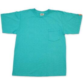 【GOOD WEAR】(グッドウェア) 7.2oz PKT TEE / 7.2オンス ポケット Tシャツ (ターコイズ) 渋谷 バックドロップ 渋谷の老舗アメカジショップ the back drop アメカジ定番 ヘビーウェイト アメリカンコットン アメリカ製 MADE IN USA