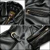 (Vanson Vanson) Enfield jacket black (VANSON Vanson VANSON riders VANSON Parker Vanson jacket jumper, blouson outerwear mens leather skin motorcycle leather jacket JKT backdrop another note genuine)