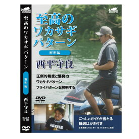 【DVD】ブラッシュ 至高のワカサギパターン 解明編 西平守良 BRUSH