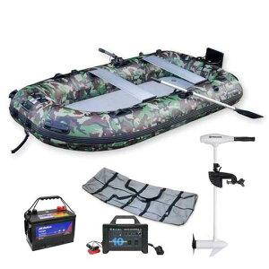 フーターズ PVC インフレータブル ボート(ゴムボート)B-HT280R ミンコタ海水モデルRT 55lb エレキセット(ハンドコントロール)