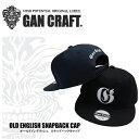 ガンクラフト オールドイングリッシュスナップバックキャップ GAN CRAFT OLD ENGLISH SNAPBACK CAP