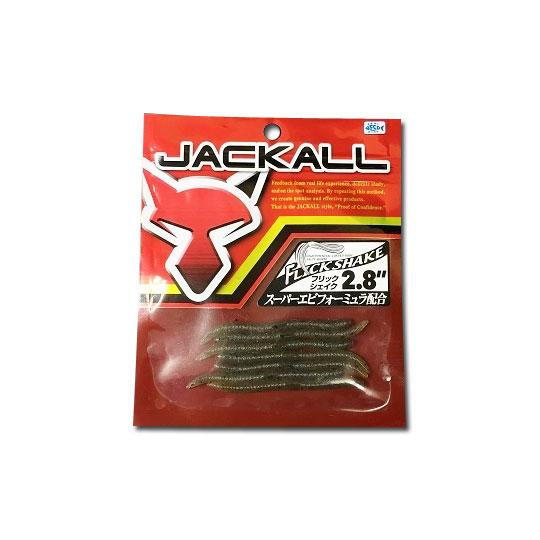 ジャッカル フリックシェイク 2.8inch 赤パッケージ JACKALL FLICK SHAKE