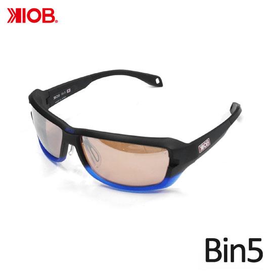 ケナイオビー ビンゴ ブルーシャドウフレーム ミラーレンズ 偏光サングラス KIOB Bin5