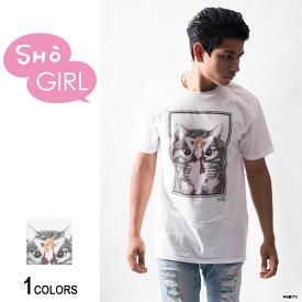 「SHO GIRL」グラフィックTシャツ Cat(男女兼用)■石ノ森章太郎 ショーガール ガールズ・グラフィック イラスト 女の子 女性 美少女 サイボーグ009 エラバレシ 朝倉ゆり着用 トップス クルーネック
