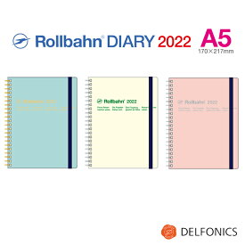 ロルバーン ダイアリー 2022 A5 手帳 スケジュール帳 2021年10月始まり 2022年12月まで デルフォニックス The Rollbahn Monthly Planner Transparent Cover from DELFONICS