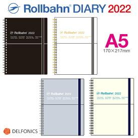ロルバーン ダイアリー 2022 A5 手帳 スケジュール帳 2021年10月始まり デルフォニックス The Rollbahn Monthly Planner Seasonal Limited Edition with Pocket from DELFONICS