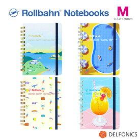 ロルバーン ロラン ノート M ポケット付メモ 「憧れのバカンス」のひとときをモチーフで表現した方眼ノート デルフォニックス デルフォニックス 2021 Spring Summer limited edition The Rollbahn grid notebook with holiday motif.