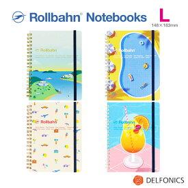 ロルバーン ロラン ノート L ポケット付メモ 「憧れのバカンス」のひとときをモチーフで表現した方眼ノート デルフォニックス デルフォニックス 2021 Spring Summer limited edition The Rollbahn grid notebook with holiday motif.