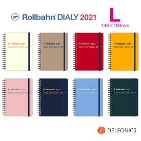 ロルバーン 2021 ダイアリー L スケジュール帳 手帳 B6変型 2020年10月始まり2021年12月まで デルフォニックス The Rollbahn Monthly Planner Basic Edition from DELFONICS