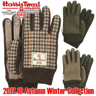 2016 fall winter model Harris Tweed mens gloves for touch panel for HARRIS TWEED MEN'S GLOVE Weekender WEEKEND (ER) Hemmings 2017 men gloves Smartphone support