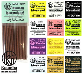 クンバ お香 ミニ 28本入 スイートレイン ハッピー スウィートレイン Kuumba Natural Incense Sticks Mini burns for 25-30 mins and fragrance Sweet Rain Happy Egyptian Musk