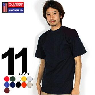 CAMBER t衬衫8盎司TEE短袖hebiueitokyambapoketto