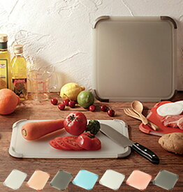 リベラリスタ まな板 LIBERALISTA カッティングボード おしゃれ グリップボード 食洗機対応 好評 抗菌 正方形 スクエア 長方形 レクタングル 両面 収納 持ちやすい 滑り止め 滑りにくい 軽量 まな板 1_GLII
