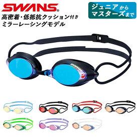 ゴーグル 水泳 好評 メンズ レディース 大人 水中メガネ 水中眼鏡 SWANS スワンズ SRX-M PAF SRX-M ジュニア マスターズ FINA承認モデル くもり止め UVカット ミラー プール スイミングゴーグル