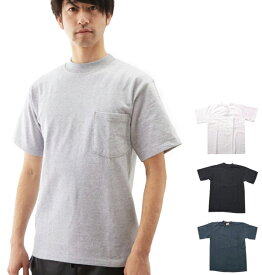 Tシャツ グッドウェア GOOD WEAR メンズ 無地 丸首 クルーネック 定番 コットン 綿 MADE IN USA アメリカ製 クラシック ポケット 半袖Tシャツ カットソー ポケット付き 黒 半袖 トップス 2313-0002 kkp-gw-GP-2800 gw040001