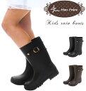 キッズ レインブーツ 通販 女の子 男の子 男女兼用 防水 ジュニア キッズ 子供靴 子供用 ジョッキーブーツ ブラック ブラウン かわいい おしゃれ 大人っぽい レイングッズ 雨具 雨靴 長靴 ながぐつ なが靴 シンプル 無地 黒 茶色