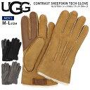 ugg メンズ 手袋 通販 ブランド UGG アグ CONTRAST SHEEPSKIN TECH GLV コントラスト シープスキン テック グローブ …