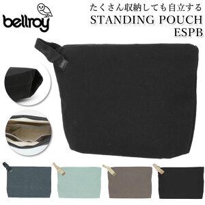 ポーチ メンズ 通販 ブランド bellroy ベルロイ 小物入れ シンプル コード 収納 おしゃれ 旅行 ブラック 黒 持ち運び 小物収納 携帯 アクセサリー バッグインバッグ 小さめ ビジネス STANDING POUCH